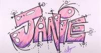 имя Janie карандашом