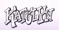 имя Katelyn простым карандашом