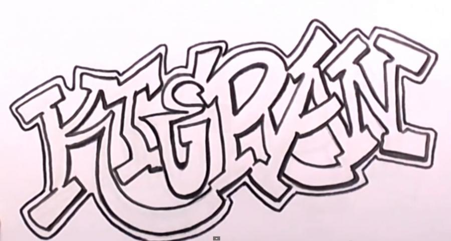 Рисуем имя Kieran