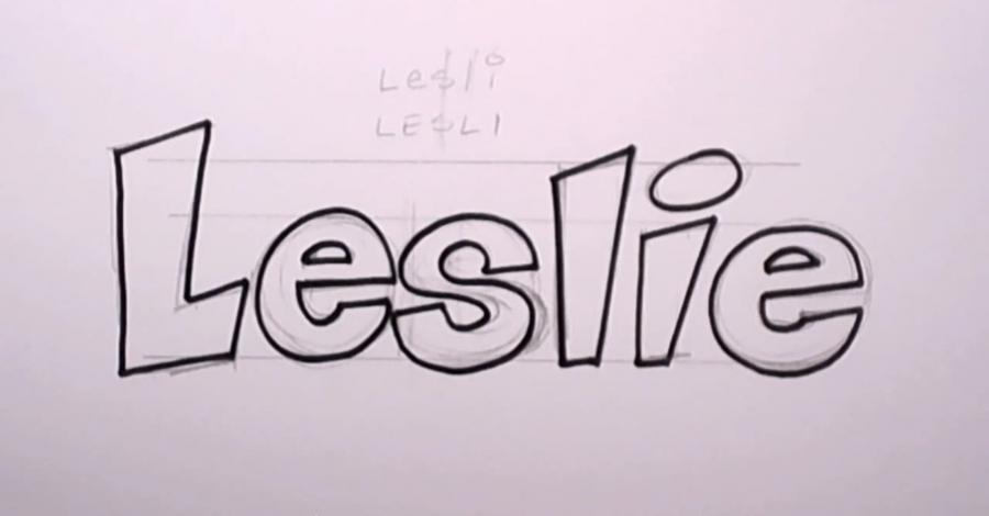Имена простым карандашом нарисованы