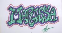 имя Marissa карандашом или фломастером