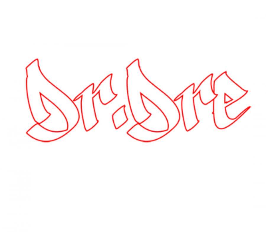 Рисуем имя dr. dre на бумаге