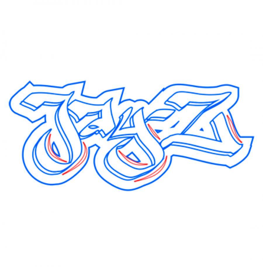 Рисуем имя jay-z в стиле граффити
