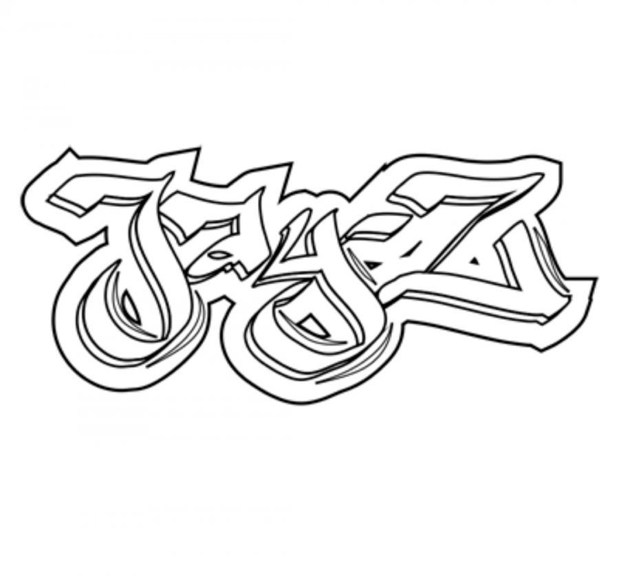 Как нарисовать имя jay-z в стиле граффити карандашом поэтапно
