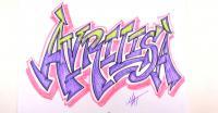 Фото слово Avrilisa с стиле граффити