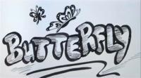 Фото слово Butterfly карандашом