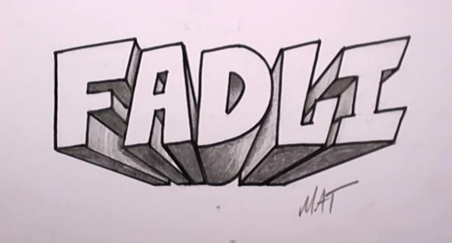 как рисовать граффити карандашом: