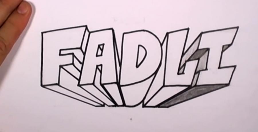 Рисовать поэтапно карандашом граффити на бумаги