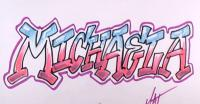 имя Michaela в стиле граффити