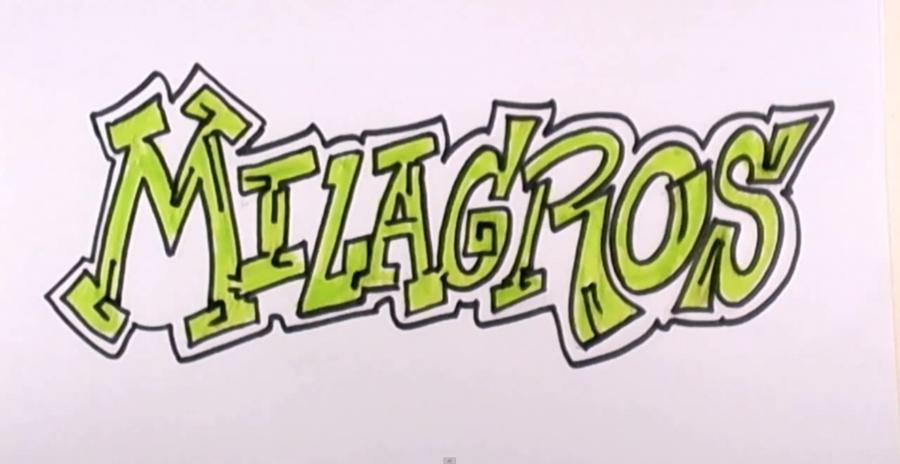 Рисуем слово Milagros