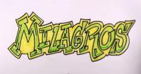 слово Milagros карандашом