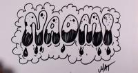Фото слово Naomi в стиле граффити карандашом