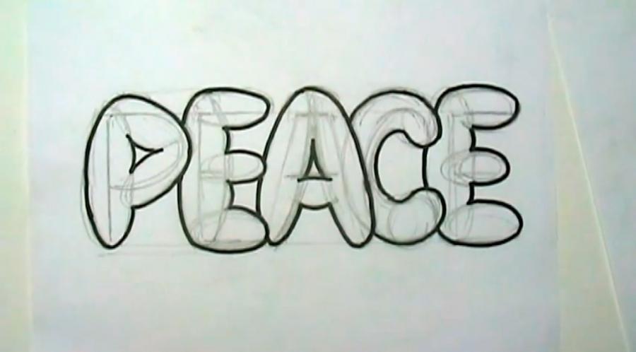 граффити рисунки карандашом на бумаге: