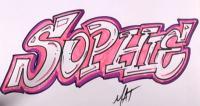 Фото слово Sophie в стиле граффити карандашом