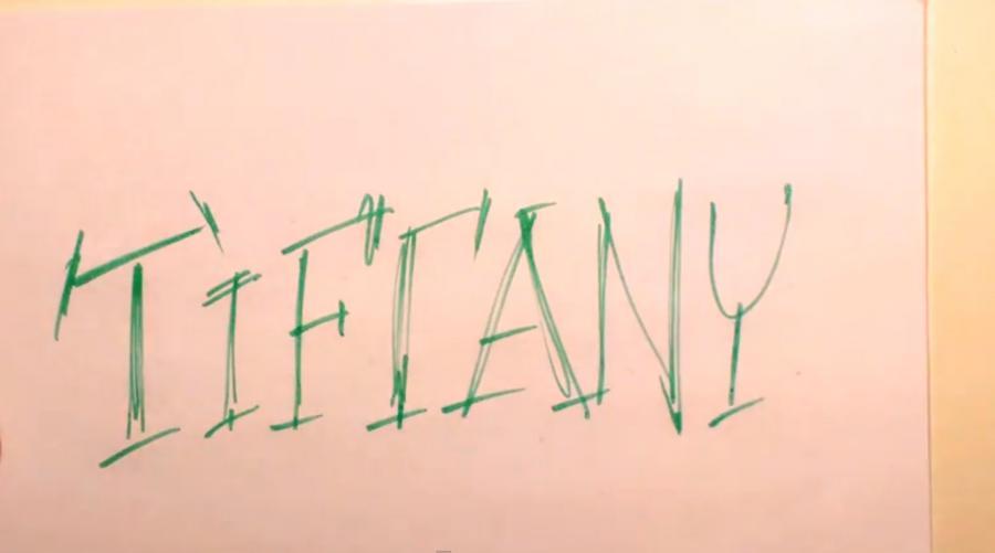 Рисуем слово Tiffany  или фломастером