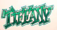 слово Tiffany карандашом или фломастером