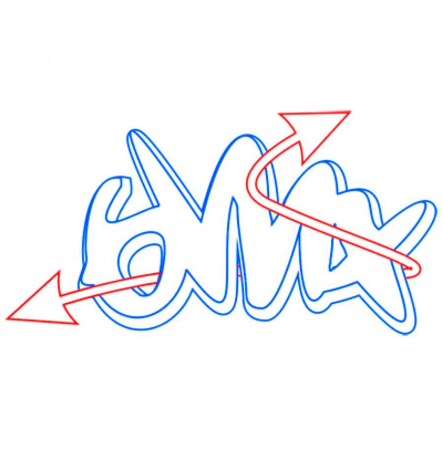 Рисуем слово bmx простым