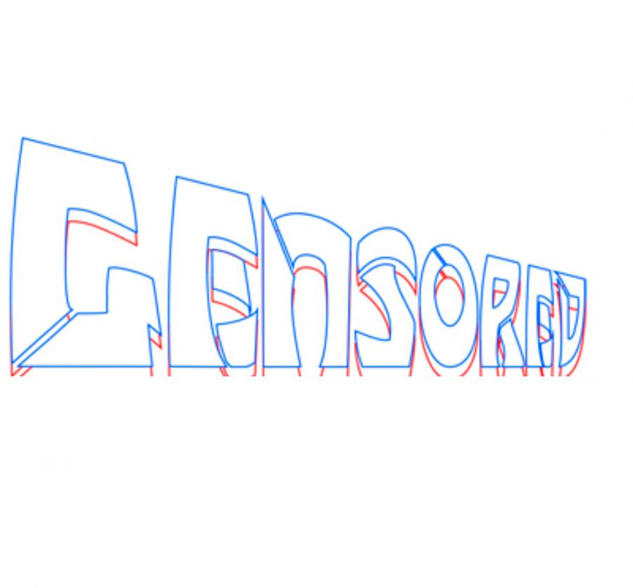 Рисуем слово censored