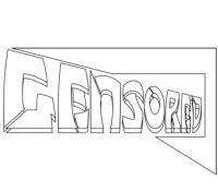 слово censored карандашом