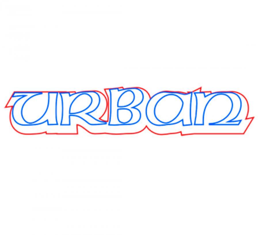 Как нарисовать слово rban карандашом поэтапно