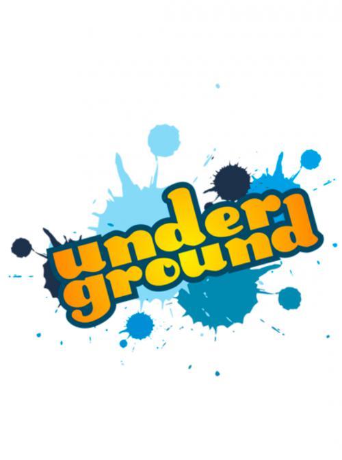 Рисуем слово underground  на бумаге