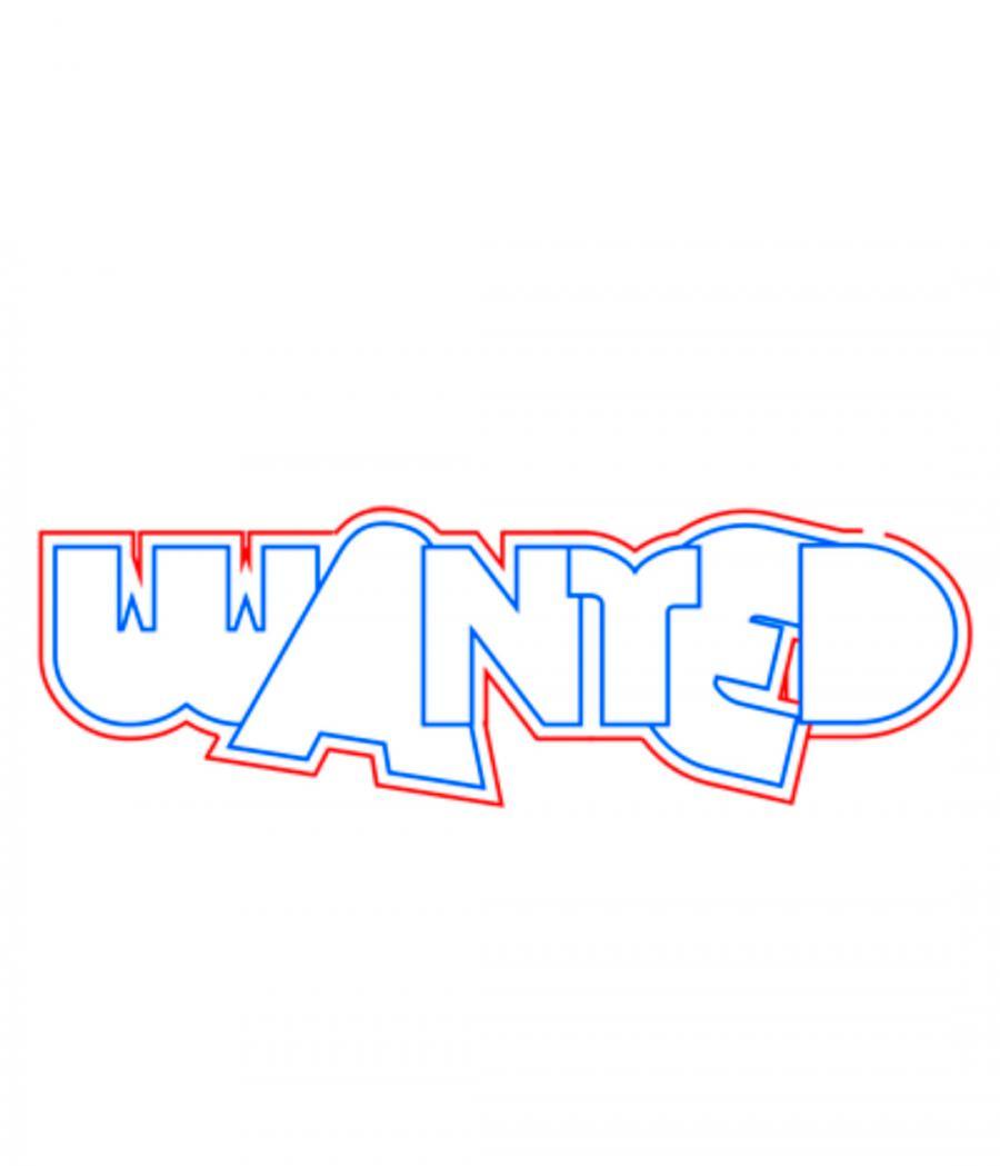 Рисуем слово wanted