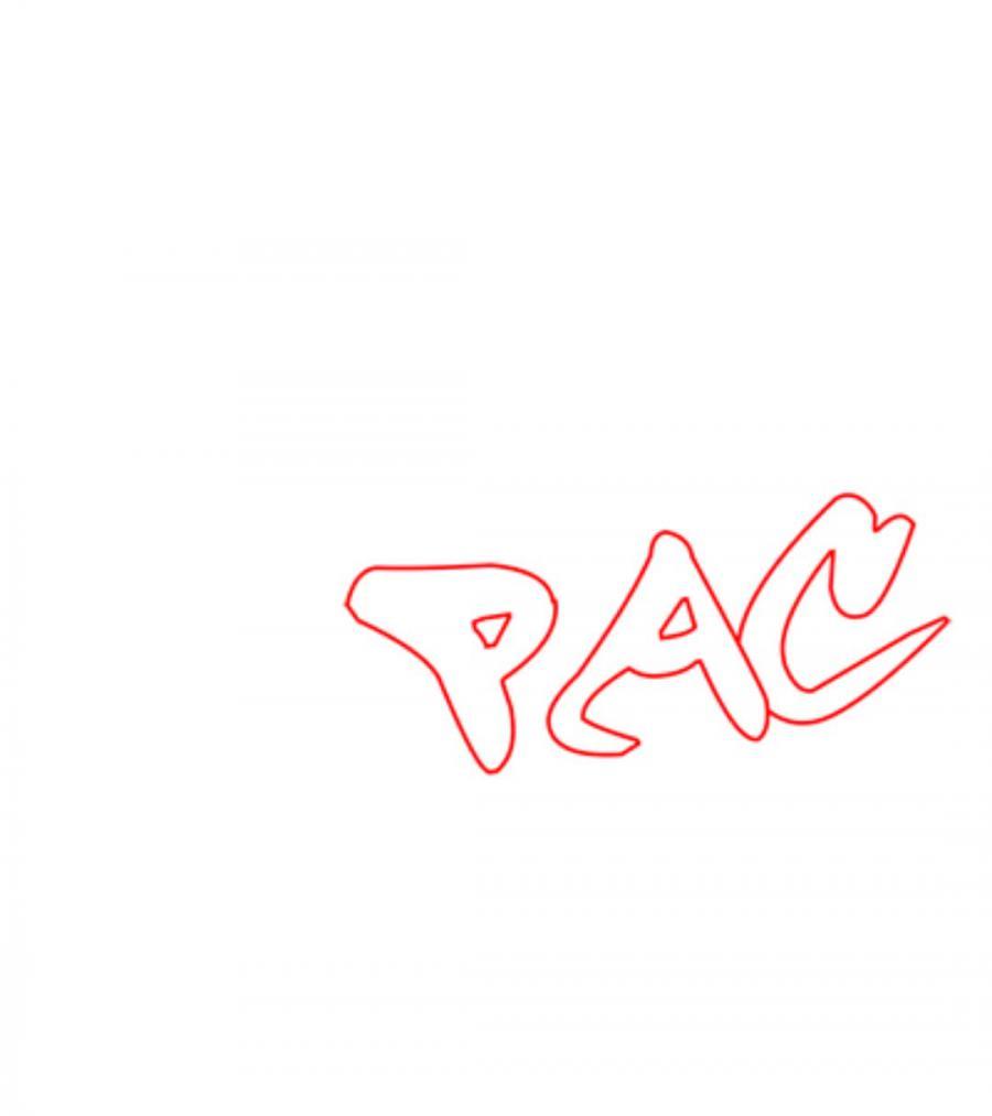 Как рисовать слово PAC в стиле граффити