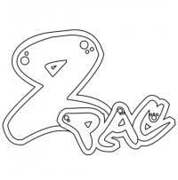 Как рисовать слово PAC в стиле граффити карандашом