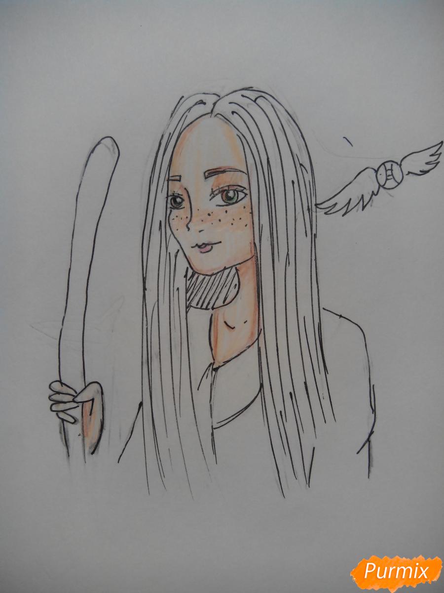 Рисуем Джинни Уизли из Гарри Поттера - шаг 8