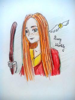 Рисунок Джинни Уизли из Гарри Поттера