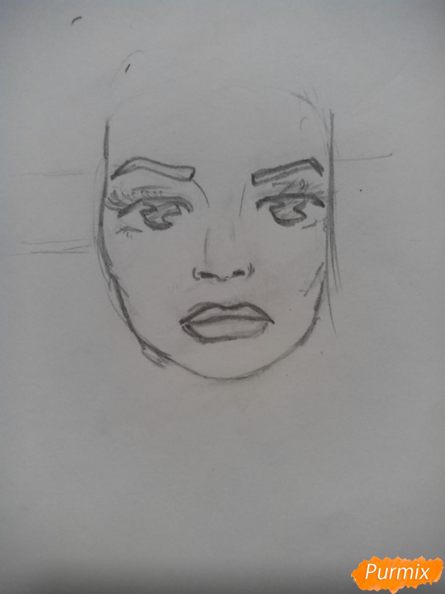 Рисуем Шерил Блоссом из Ривердейла - шаг 2