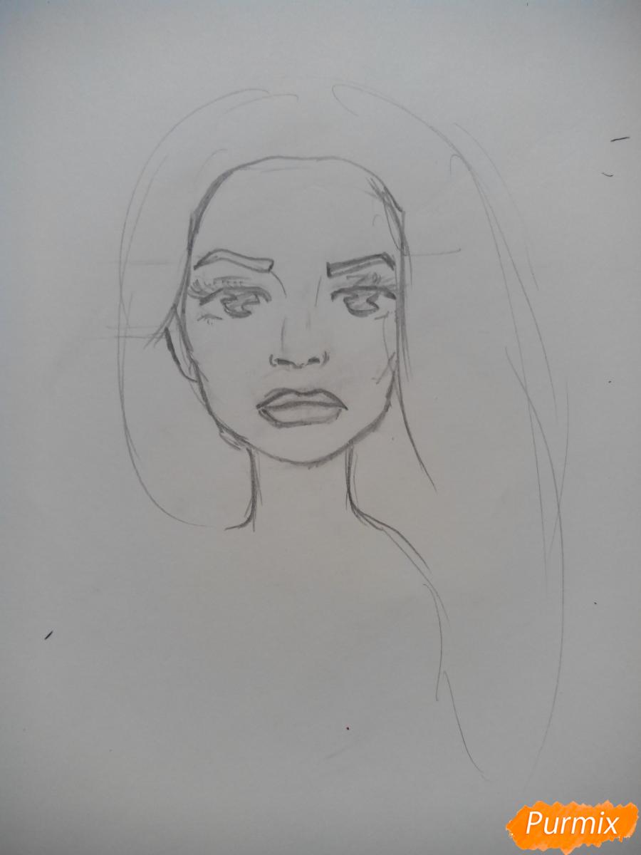 Рисуем Шерил Блоссом из Ривердейла - шаг 3