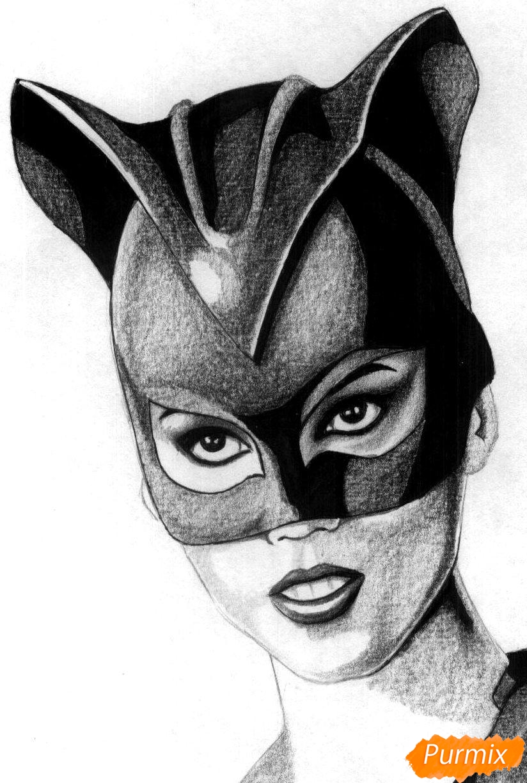Рисуем Женщину-кошку - шаг 4
