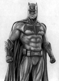 Как нарисовать Бэтмена из Бэтмен против Супермена
