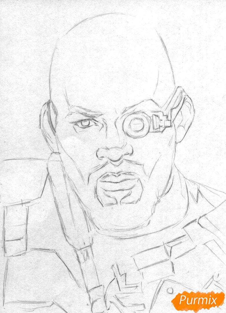 Рисуем Дэдшота из фильма Отряд самоубийц  и ручкой - фото 1