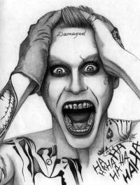 Рисунок Джокера из Отряд самоубийц