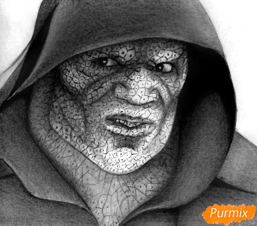 Как нарисовать Убийцу Крока из фильма Отряд самоубийц карандашом и ручкой поэтапно