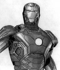 Фото железного человека карандашом