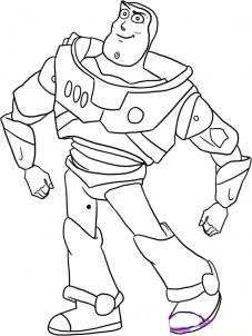 Как рисовать Buzz из истории игрушек