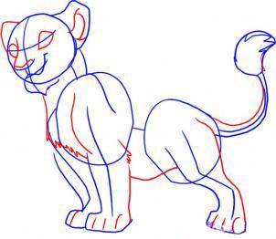 Рисуем Налу из Король лев - шаг 3