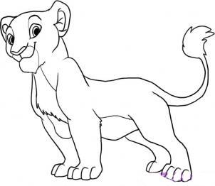 Рисуем Налу из Король лев - шаг 5