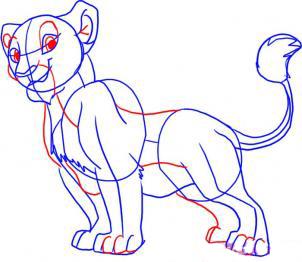 Рисуем Налу из Король лев - шаг 4