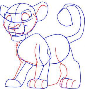 Рисуем Симбу из Король Лев - шаг 3