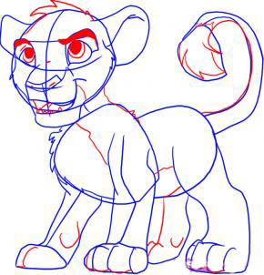 Рисуем Симбу из Король Лев - шаг 5