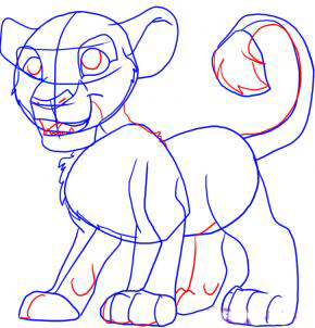 Рисуем Симбу из Король Лев - шаг 4