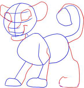 Рисуем Симбу из Король Лев - фото 2