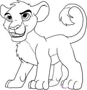 Рисуем Симбу из Король Лев - шаг 6