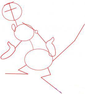 Рисуем Тимона из Король Лев - шаг 1
