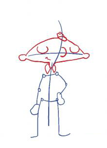 Рисуем Арнольда - шаг 2