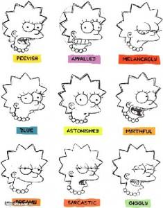Рисуем эмоции Лизы Симпсон - шаг 1